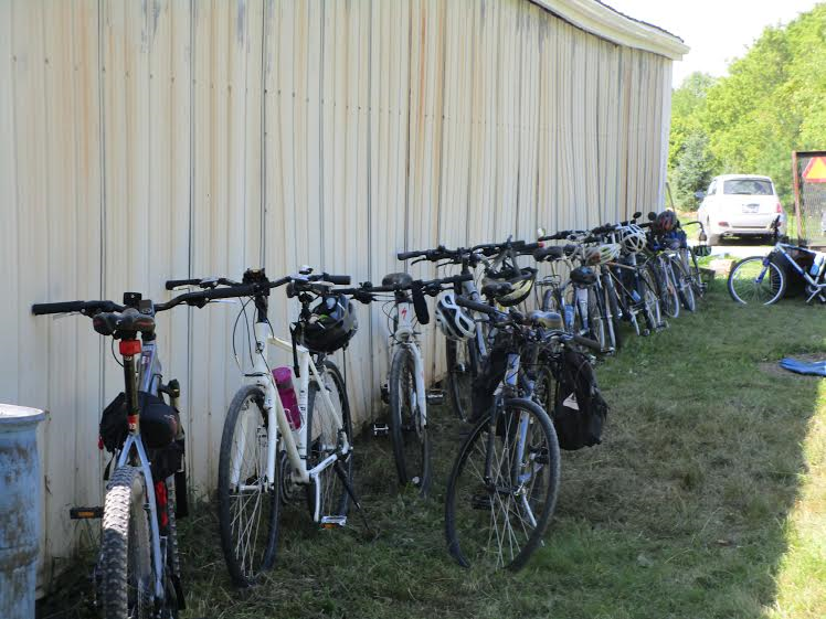 bicycles at the barn at Heart's Content Organic Farm